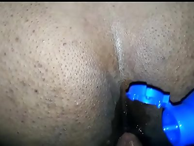 indian Horny Desi Pune wife first time anal with coconut oil and loud moaning