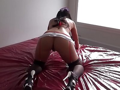 Fucking my great big ass nurse wife from behind till she cums really loud